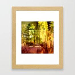 Zen & Spiritual Relaxation - Buddha & Bamboo Framed Art Print