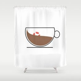 Coffee Wave Shower Curtain