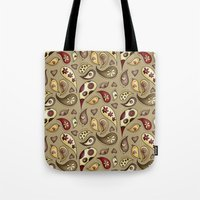paisley Tote Bags featuring Paisley by Catru