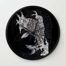 Ornate Mandala Style Koi Wall Clock