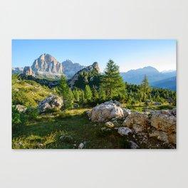 Panorama of Dolomites Canvas Print