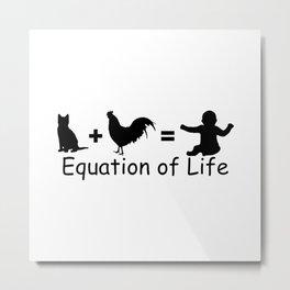 Equation of Life Metal Print