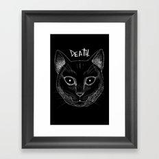 DEATH. (Black) Framed Art Print