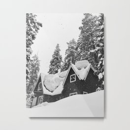 Boulders of Snow Metal Print