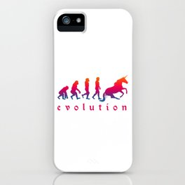 Horse Magical Creature Magic Fantasy Rainbow Unicorn Evolution Gift iPhone Case