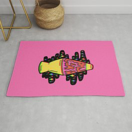 Lit Lava Lamp in pink in 3D Rug