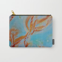 GoldFish Bubbles 1sw watercolor by CheyAnne Sexton Carry-All Pouch