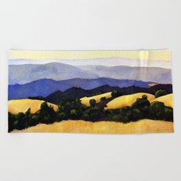 California Landscape Beach Towel