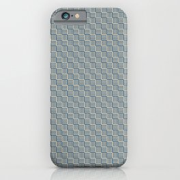 Blue & Beige Grid Tessellation Pattern - 2020 Color of the Year Chinese Porcelain & Alpaca Wool iPhone Case