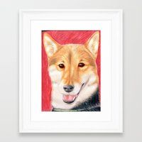 finn Framed Art Prints featuring Finn by Meghann Smith