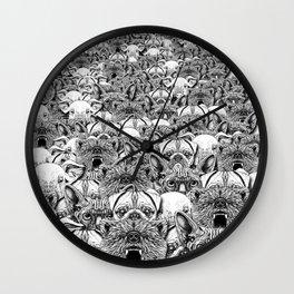 Animal Crowd Wall Clock