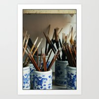 calligraphy Art Prints featuring Calligraphy by HYCROFT
