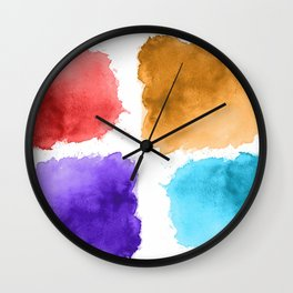 watercolor patch collection Wall Clock