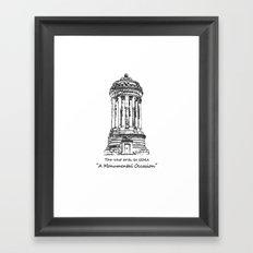 Monument 2 Framed Art Print