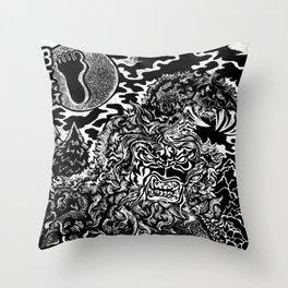 Sasquatch Siting Throw Pillow
