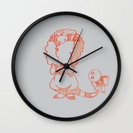 Shy Sheepy Wall Clock