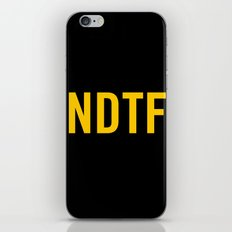 Not DTF iPhone & iPod Skin