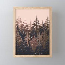 Pine Forest - Midnight Neutral Framed Mini Art Print