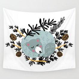 slipping bear Wall Tapestry