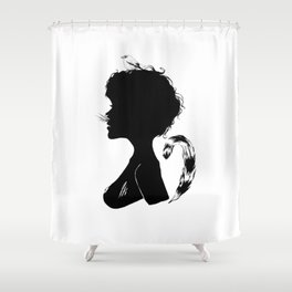 Birdie Silhouette Shower Curtain