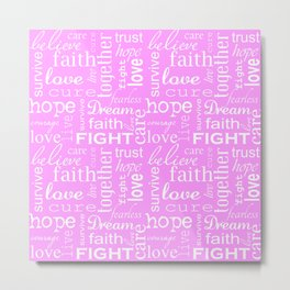 Breast Cancer - Pink Metal Print