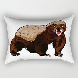 Honey badger illustration Rectangular Pillow