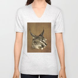 Cerval - Colored Scratchboard Unisex V-Neck