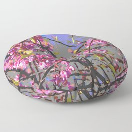 Polarized floral Floor Pillow