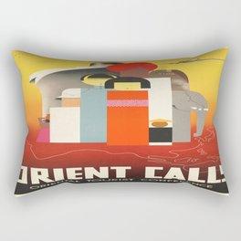 Vintage poster - Oriental Tourist Conference Rectangular Pillow