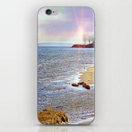 Sunset At The Beach - Tod's Point iPhone Skin
