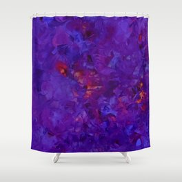 Pansies a fire Shower Curtain
