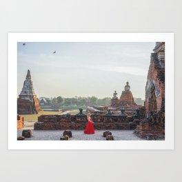 In the Presence of Awe: Ayutthaya, Thailand Art Print