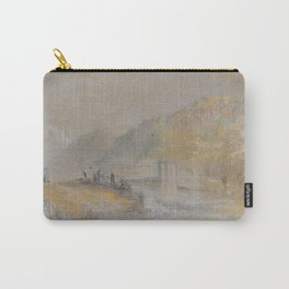 "J.M.W. Turner ""Foul by God - River Landscape with Anglers Fishing From a Weir"" Carry-All Pouch"