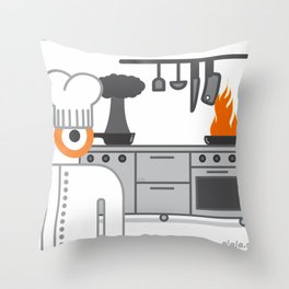 cooked glance Throw Pillow