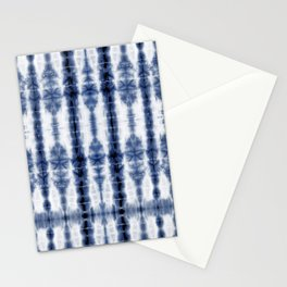 Tiki Shibori Blue Stationery Cards