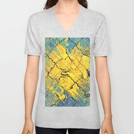 sunabstract. Unisex V-Neck