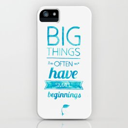 Big Things iPhone Case