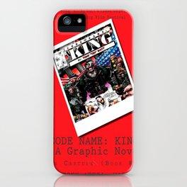 """Code Name: King""  - ALTERNATE Comic Book Promo Poster  iPhone Case"