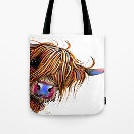 HiGHLaND CoW PRiNT SCoTTiSH ' SuGaR LuMP ' BY SHiRLeY MacARTHuR Tote Bag