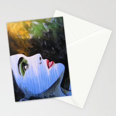 Abstract Original Girl Woman Painting...BECOME Stationery Cards