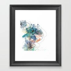 Blue Botanica Framed Art Print