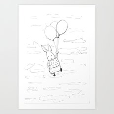Rabbit sketch Art Print