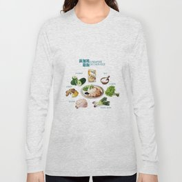 Singapore Chicken Rice Long Sleeve T-shirt