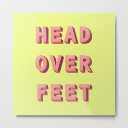 3D HEAD OVER FEET Metal Print