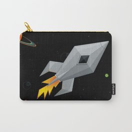 Cute Metal Rocket Ship Carry-All Pouch