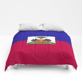 Haiti flag emblem Comforters