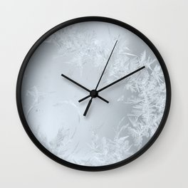 Soft Maine Frost Wall Clock