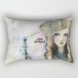 Gesso Geisha by Jane Davenport Rectangular Pillow