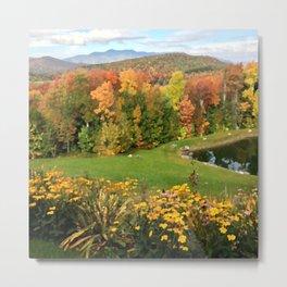 Vermont Foliage Watercolor Metal Print
