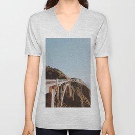 Bixby Bridge / California Unisex V-Neck